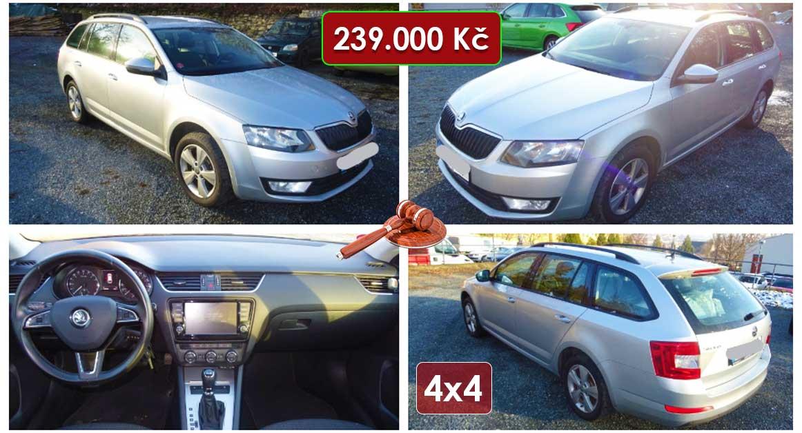Výběrové řízení na prodej Škoda Octavia Combi 2.0 4x4. Min ...